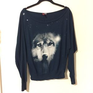 H&M Off the Shoulder Wolf Top